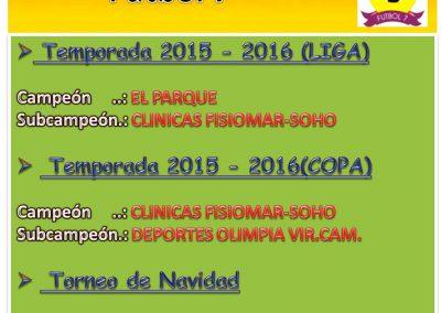 Histórico 2015-2016